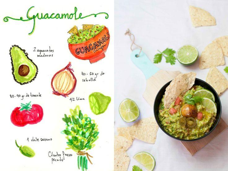 Guacamole receta mexicana. Receta de guacamole. Guacamole casero. Cómo hacer guacamole mejicano auténtico. Verdadera receta de guacamole.