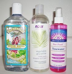 DIY Rosewater and Witch Hazel Toner 1 1/4 cups pure rosewater 1 cup witch hazel 8 small squirts of vegetable glycerin Combine in a spray bottle, give it a good shake and meet your new beauty must have! Spritz your skin any time of day for an instant rejuvenating lift. The cool mist will leave a light rosey fragrance with no residue - and no makeup mess ups! Live fresh, live LUSH!