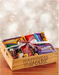 Christmas - Chocolate: Happiness to Share Chocolate-filled Crate!