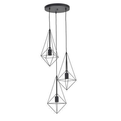 BIJOU Suspension 3 lumières D 35 x H 172 cm Noir mat - Achat / Vente BIJOU Suspension Noir mat Métal - Cdiscount