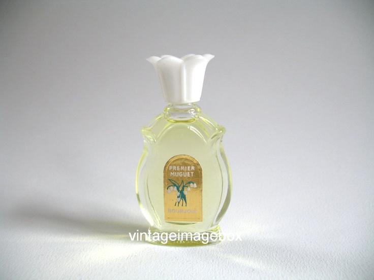 Premier Muguet by Bourjois. Delightful vintage miniature perfume. From VintageImageBox (shops on etsy and ebay.)