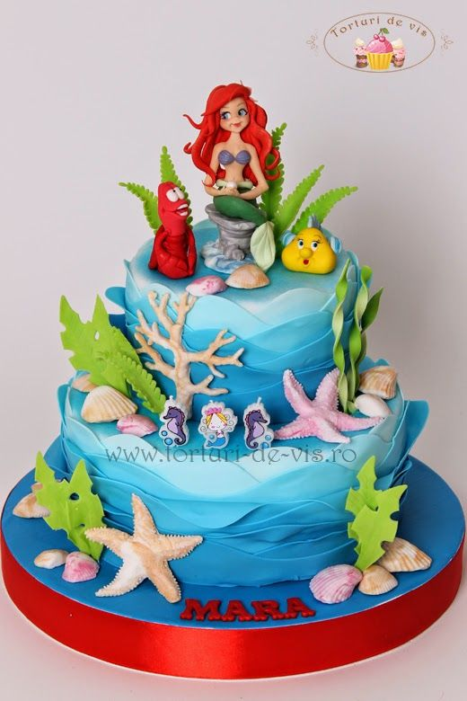 58 Best Images About Mermaid Themed Cakes On Pinterest Beach Cupcakes Birthday And Mermaids