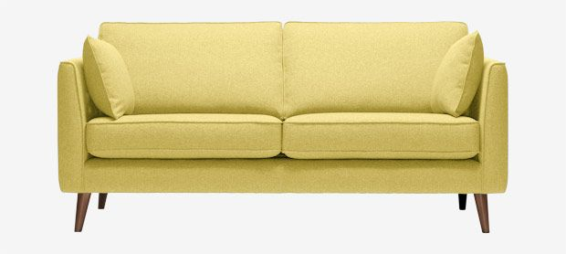 Cameron large sofa with fixed covers in house brushed cotton sunshine