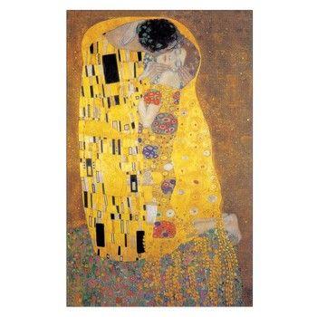 Obraz Klimt - The Kiss, 60x90 cm | Bonami