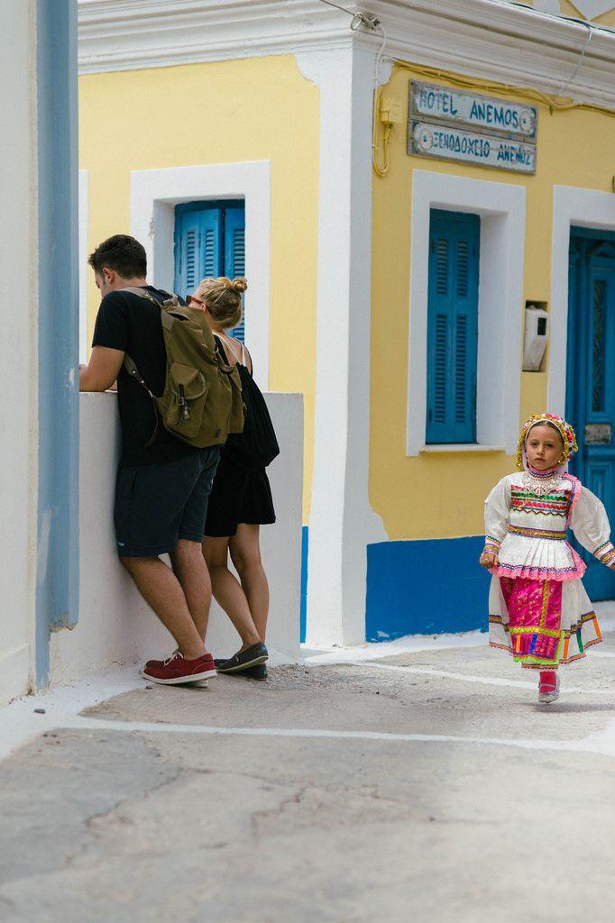 Πρωί Δεκαπενταύγουστου στην Όλυμπο Καρπάθου Morning of August 15 on Olympos village, Karpathos, Greece Processed as Agfa Ultra 50 film