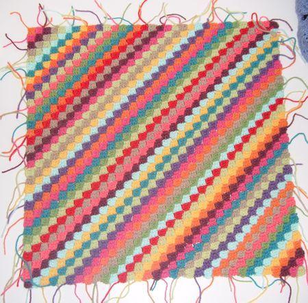 diagonales en crochet #howto #tuto