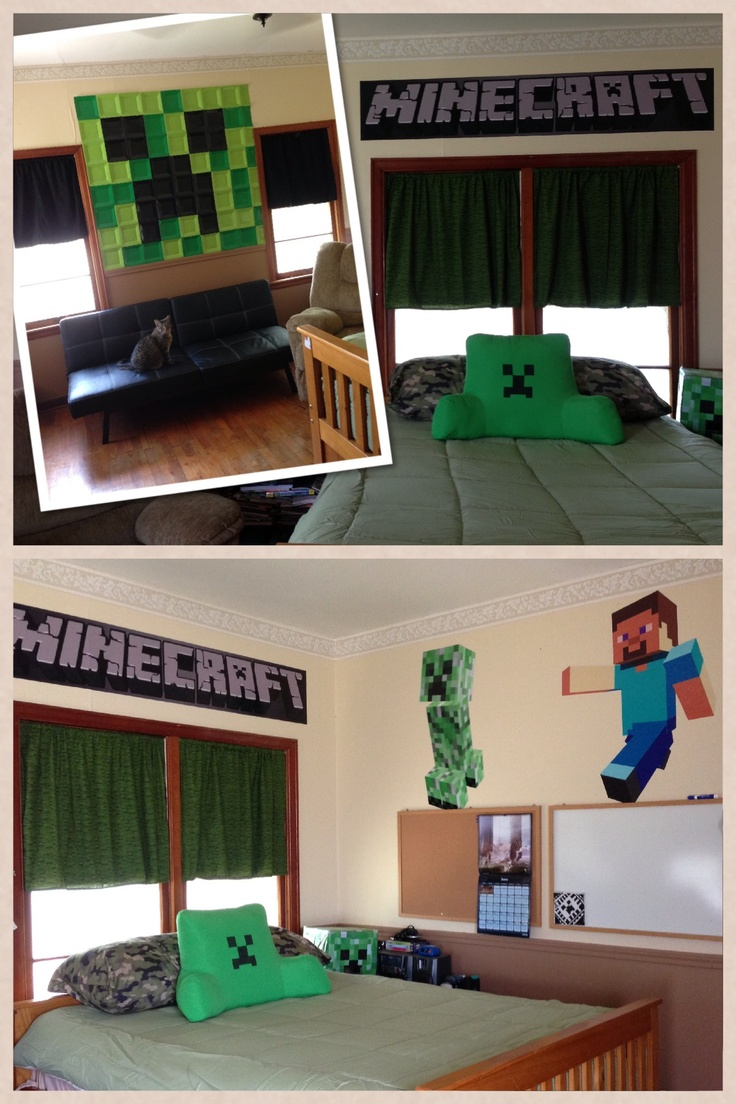 Minecraft bedroom ideas decor kids minecraft birthday for Bedroom ideas on minecraft