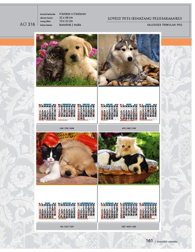 Kalender 2015 AO - Triwulan 3 Bulanan - Free Download Jpg Thumbnails Quality Preview - Tema Foto Gambar Kucing dan Anjing