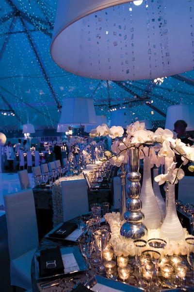 Ceiling. blues wedding color palette about flowers