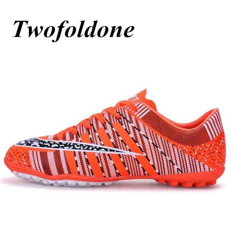 Men football Shoes Flat Turf Cleats Boots Football Shoes Kids/boys futsal ball Flywire Sneakers Sports training soccer boots