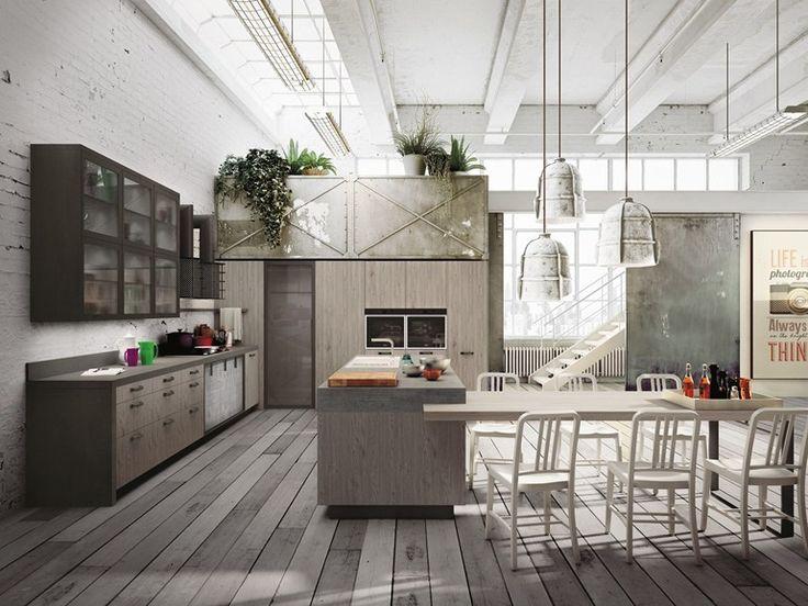 LOFT Cocina con isla by Snaidero diseño Michele Marcon