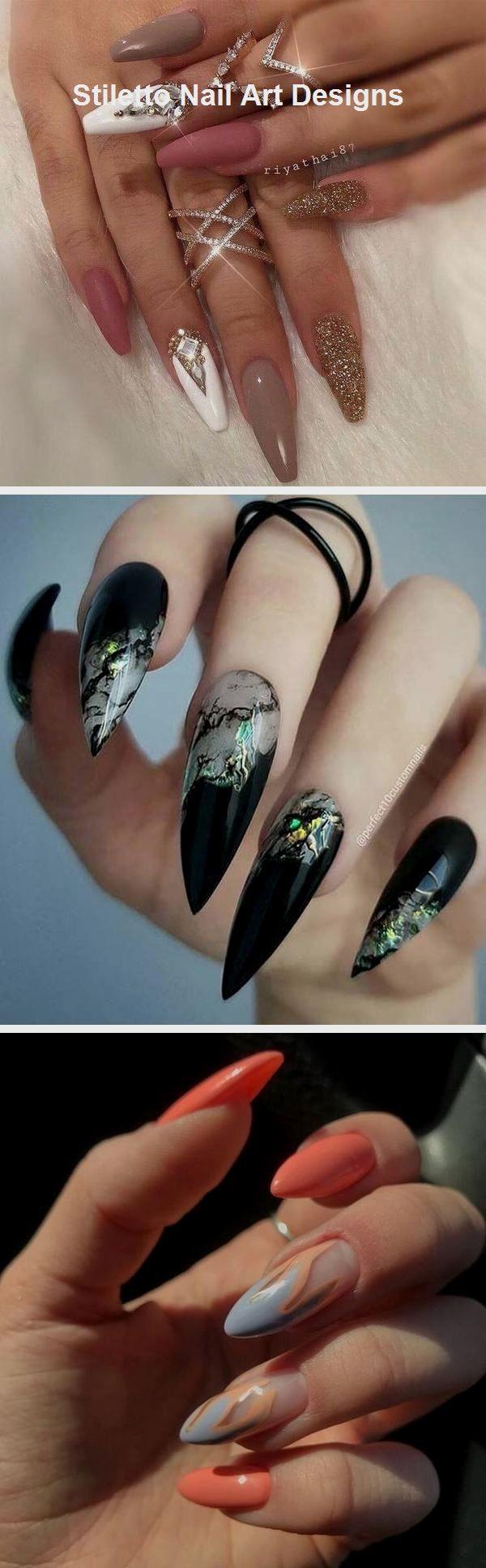 30 große Stiletto Nail Art Design-Ideen #naildesign #stilettonails – Nails