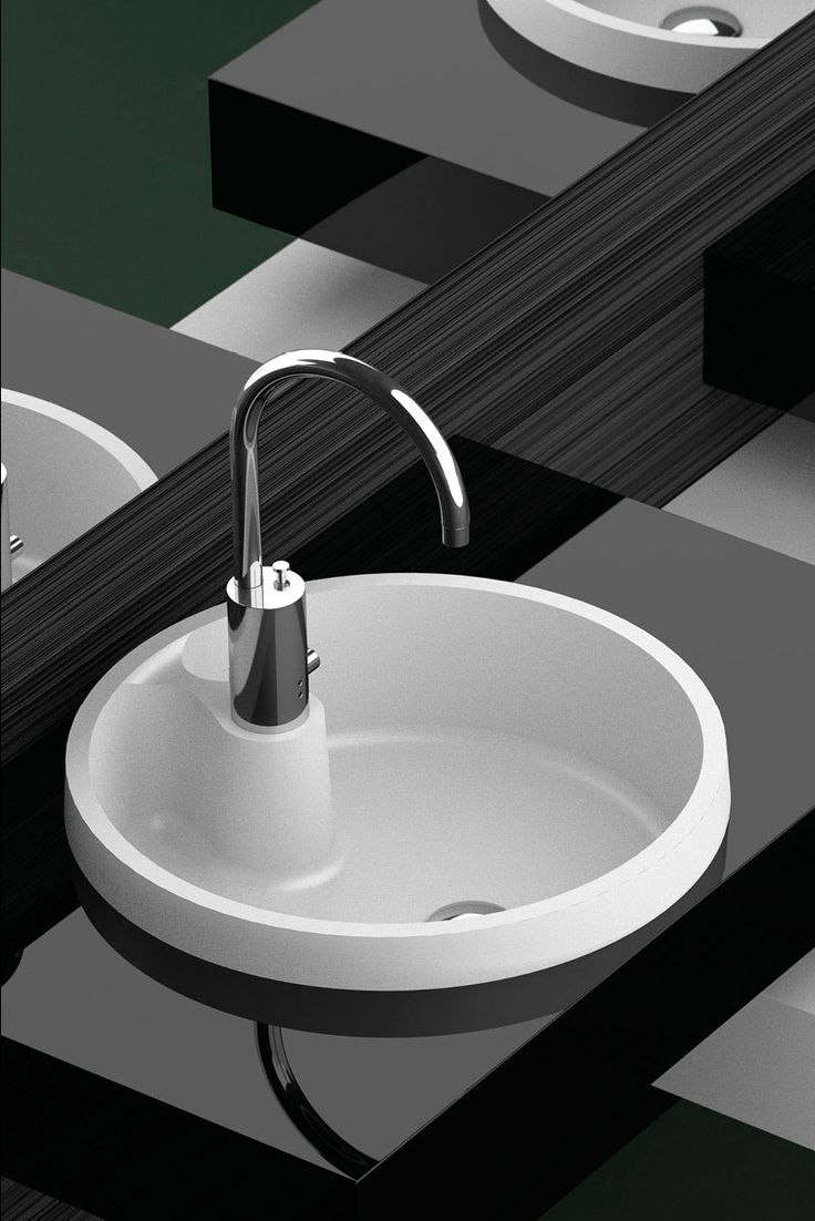 Modern Black Bathroom With Glass Designu0027s White Stylish Bath Sink / Naxos  FL Collection