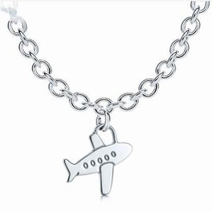 Tiffany Outlet Charm Airplane Link Clasp Necklace