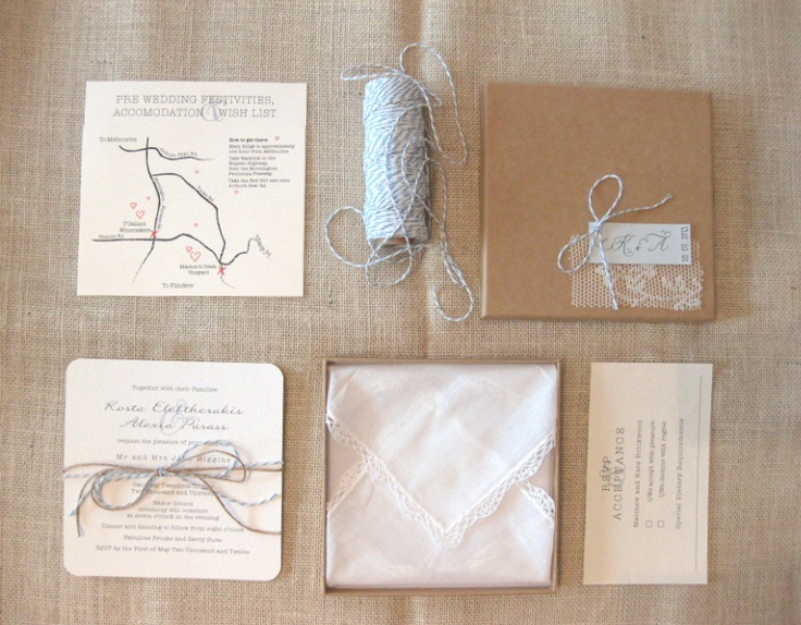 Vintage Lace and Twine Stationery Suite!