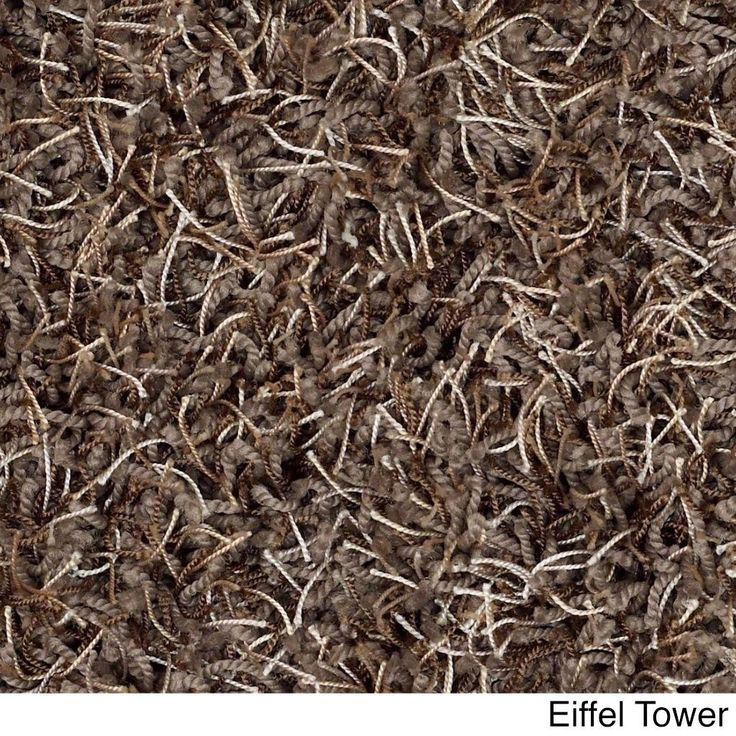 Shaw Bling Collection Nylon/Polyester Super-shag Oversized Area Rug (12' x 15') (Z6809-518 Eiffel Tower), Brown, Size 12' x 15'
