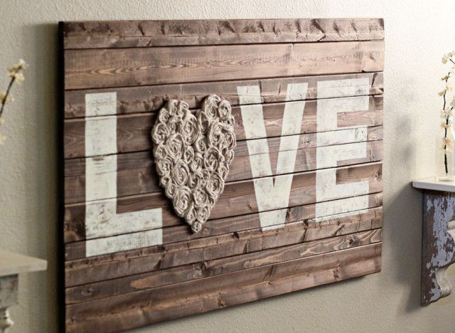Lovely rustic wall art    Photo by Whitney from Shanty 2 Chic.