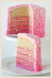 A Pink 'rainbow' inspired cake for a girl's party, simply gorgeous!