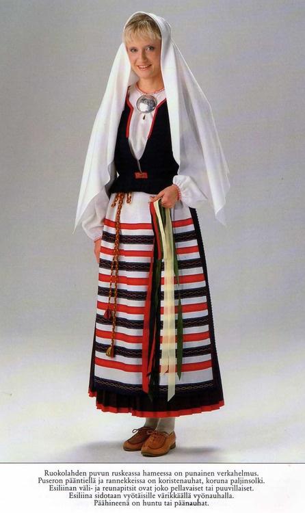 Folk costume of Ruokolahti, Karelia