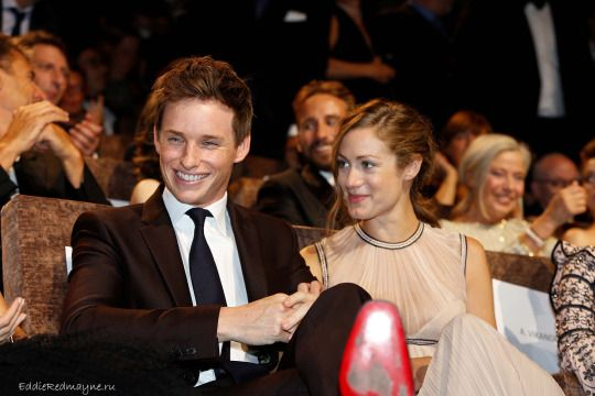 Eddie Redmayne & Hannah Bagshawe attend the premiere of The Danish Girl at the Venice Film Festival 2015