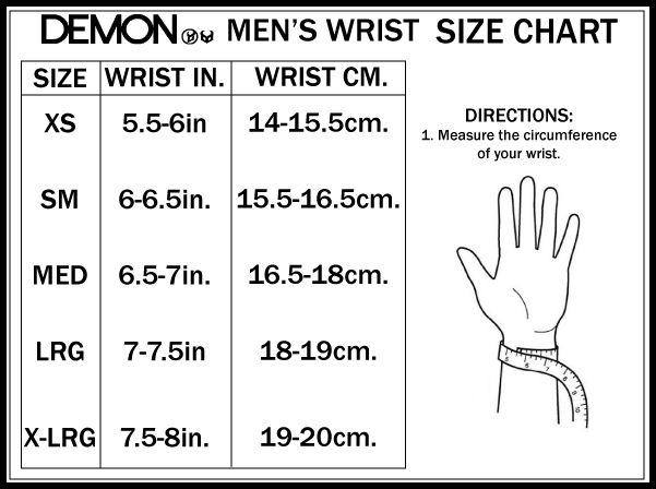 Men's wrist size