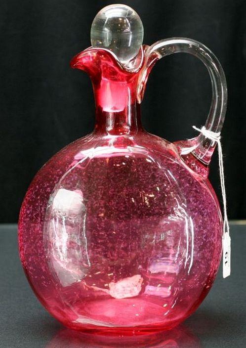 Victorian cranberry glass jug