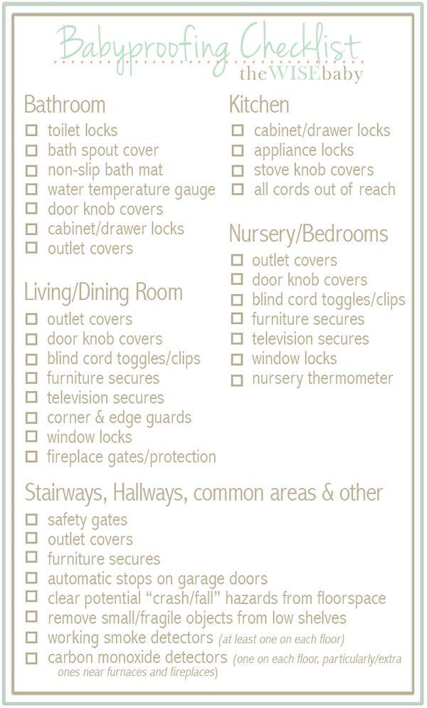 baby room checklist. Our Handy, Room By Babyproofing Checklist! Baby Checklist