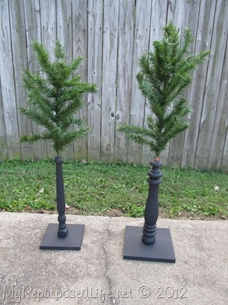 Repurposed Christmas Tree spindles