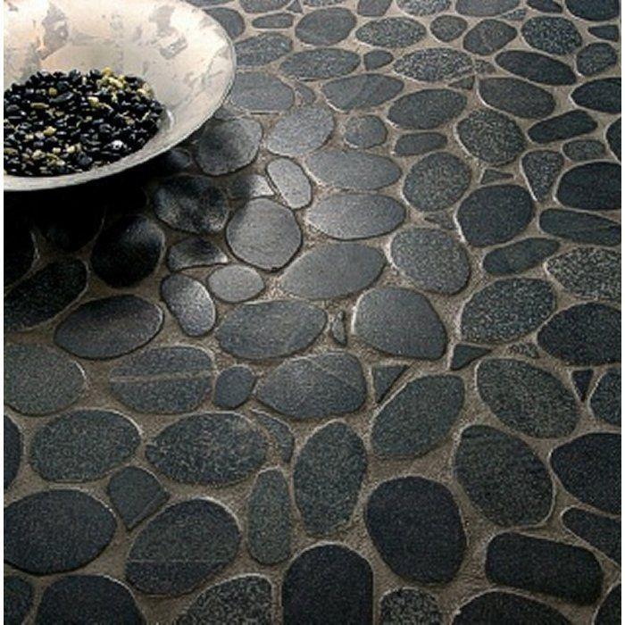 Rivera Random Sized Natural Stone Pebble Tile Beautiful Tile Floor Pebble Shower Floor Stone Shower Floor