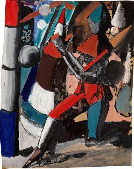 Metaphysical Figure by Mario #Sironi, 1917 #estorick