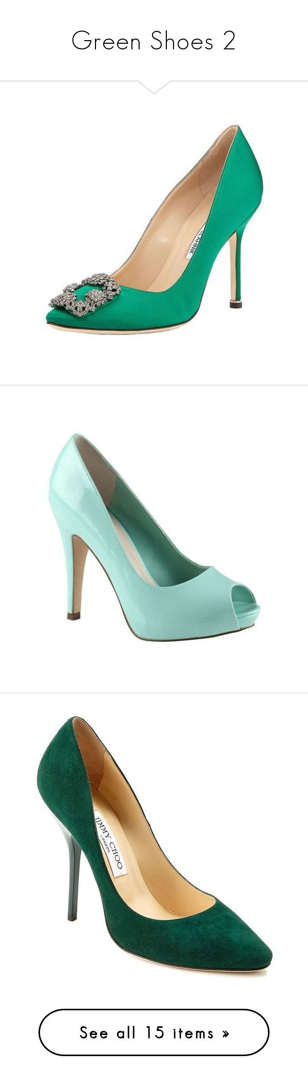 Green Shoes 2 By Franceseattle Liked On Polyvore Featuring Pumps