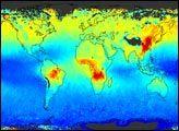 Seasonal Carbon Monoxide Measurements : Image of the Day : NASA Earth Observatory