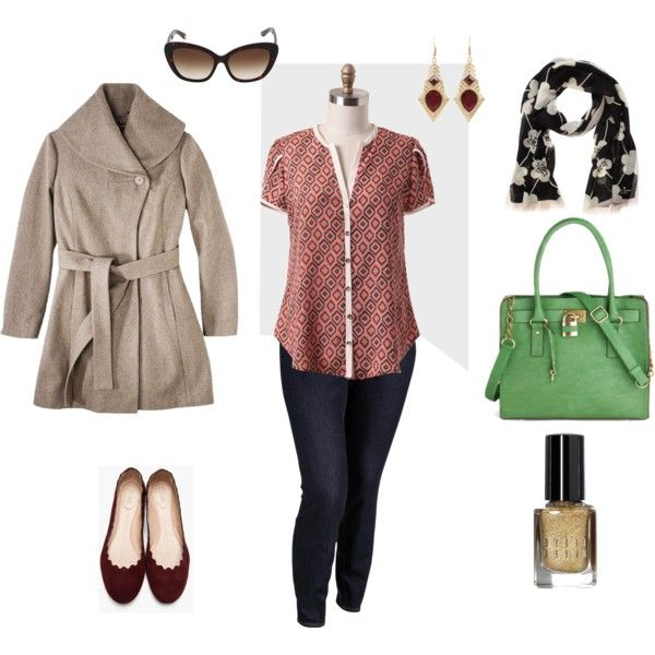 """""""Playing with Patterns-Plus Size Outfit"""" by boswell0617 on Polyvore"""