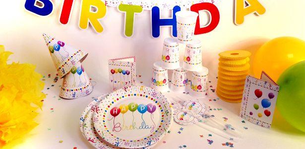 Decorazioni Compleanno colorato per compleanni con VegaooParty