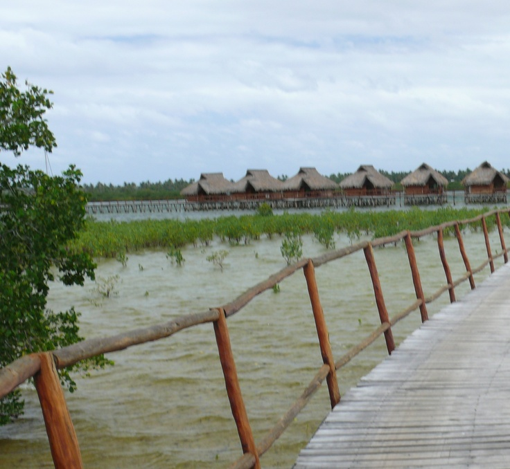 The chalets on stilts at Flamingo Bay Resort, Mozambique