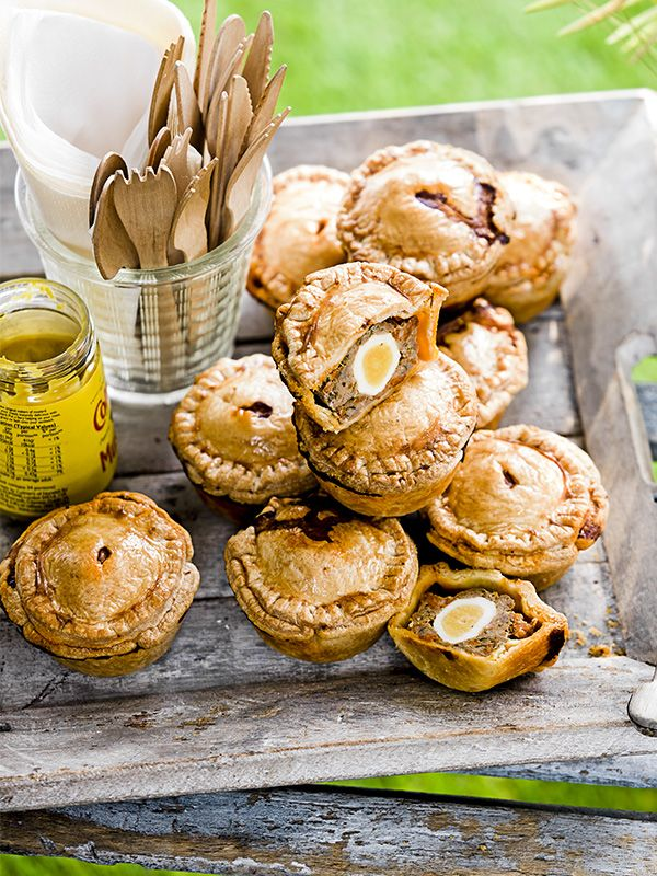 These mini pork and chorizo picnic pies have got a hidden quail's egg in the middle and make a great snack. Chorizo-style sausages have the same soft texture as regular sausages but added paprika and garlic. If you can't find them, add 1/2 tsp of smoked paprika to regular pork sausages.