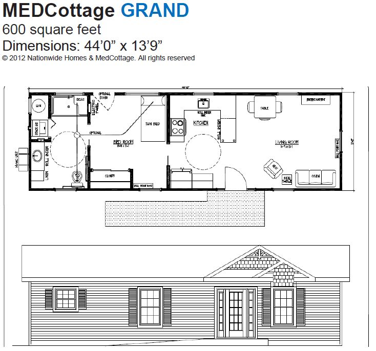 Granny pods med cottages floor plans meze blog Granny cottage plans