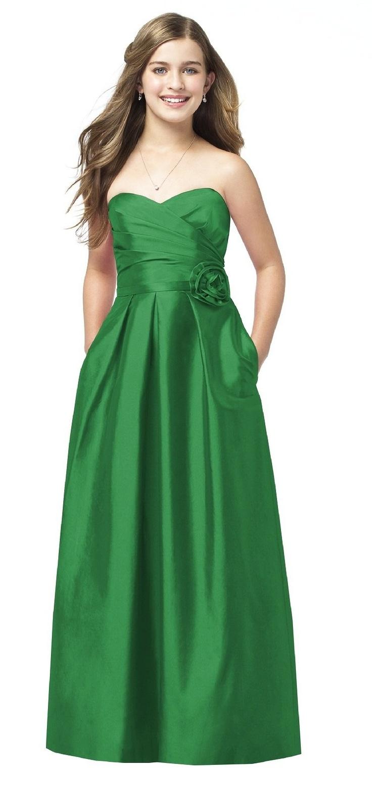 23 best junior bridesmaid dresses images on pinterest junior green a line sweetheart strapless satin junior bridesmaid dresses ombrellifo Image collections
