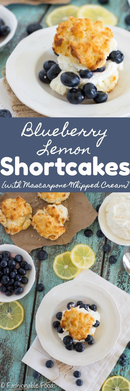 Lemon and blueberry is a classic summer dessert combination that happens to be one of my favorites. These blueberry lemon shortcakes are simple, fresh, and delicious!