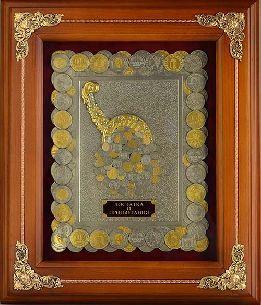 Деревянное панно Рог изобилия монеты с золочением - Панно в деревянной раме <- Панно и рамки - Каталог   Универсальный интернет-магазин подарков и сувениров