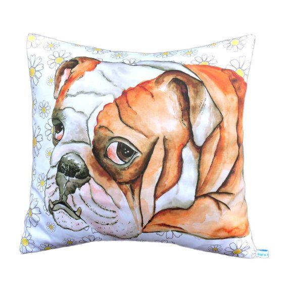 British+Bulldog+character+cushion+cover+/+pillow+by+saranorwood,+$65.00