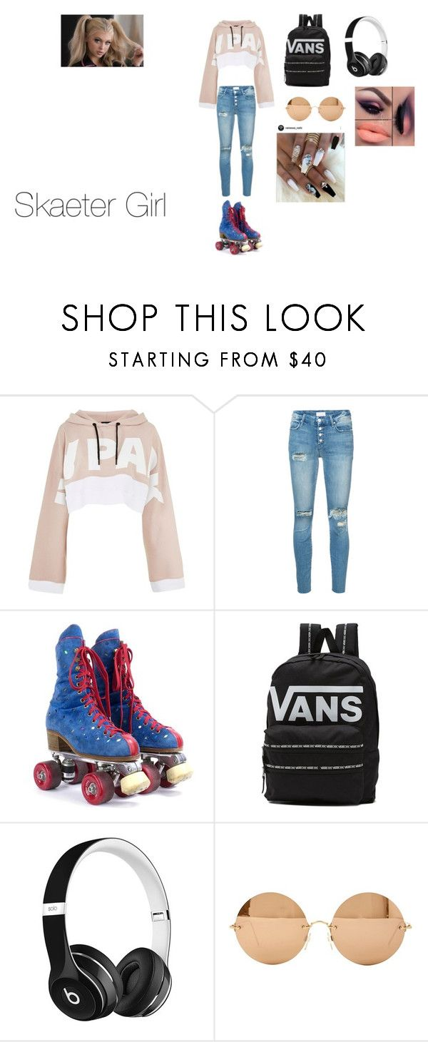 """""""skaeter Girl"""" by angelmvai on Polyvore featuring Topshop, Mother, Vans, Beats by Dr. Dre and Victoria Beckham"""