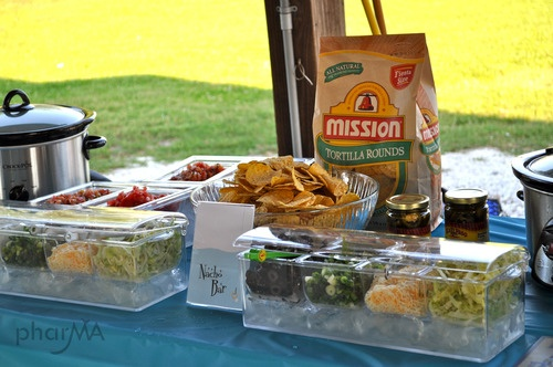 Nacho Bar  Love the covered trays for our outdoor party!