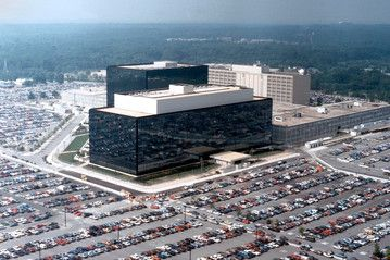NSA Officers Spy on Love Interests from the National Security Agency (NSA) headquarters building in Fort Meade, Md.