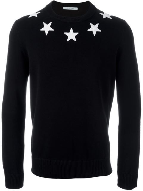 Givenchy star patch sweater
