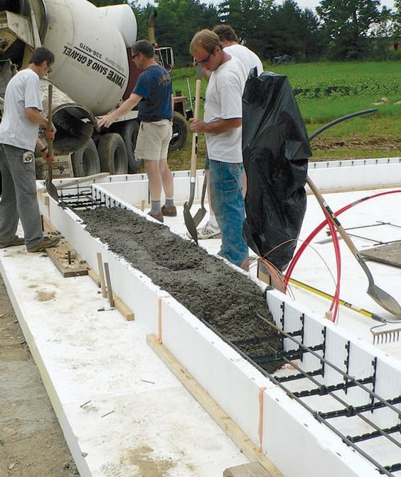 25 best ideas about slab foundation on pinterest vinyl for Icf construction pros and cons