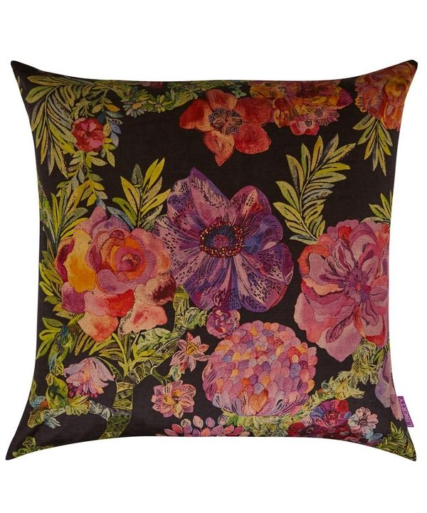 This beautiful Liberty Print cushion features the lovely Jeffery Rose Tree print,  a hand sketched design of roses, which were referenced in the novel 'The Secret Garden'.