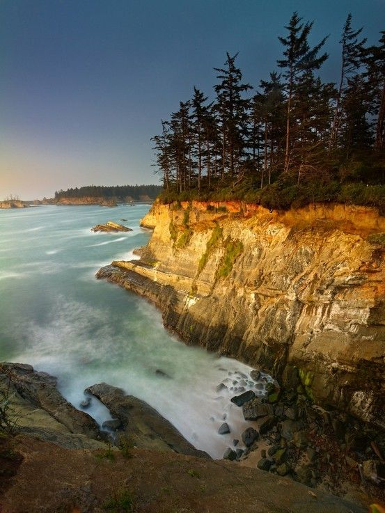Cape Arago, Coos Bay, Oregon.  Cant wait to sit here and watch the waves crash below me
