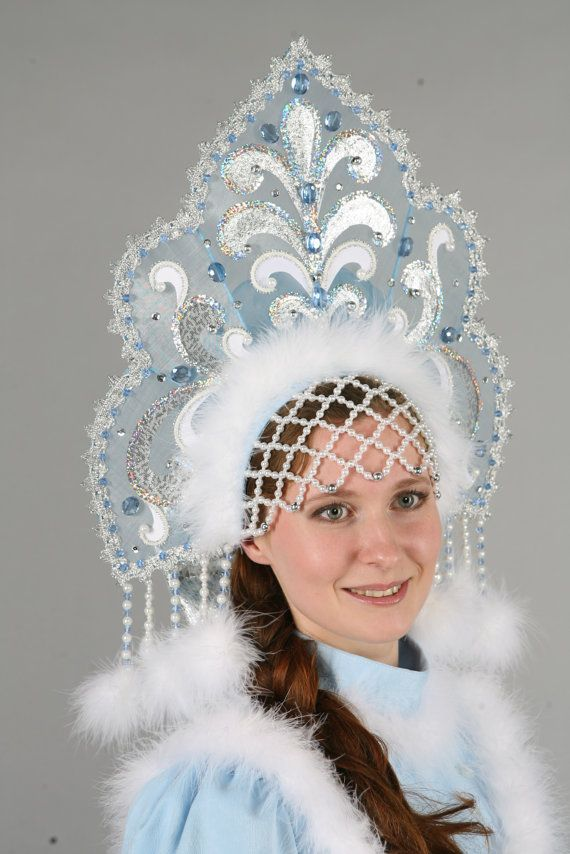 Кокошник (Корона) Снегурочки, Новогодние Аксессуары,  Корона Снежной Королевы,  Русская Корона