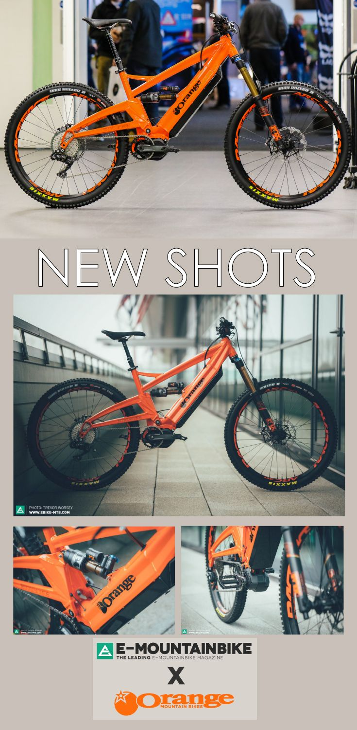 Latest pictures to surface the internet after the spy shots from E-Mountain Bike. This is the Orange x Strange electric downhill enduro machine! Fitted with Fox Float X2 and Renthal Bars. This MTB is the pinnacle of mountain ebikes.